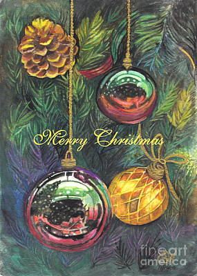 Meditation Drawing - Merry Christmas Wishes by Carol Wisniewski