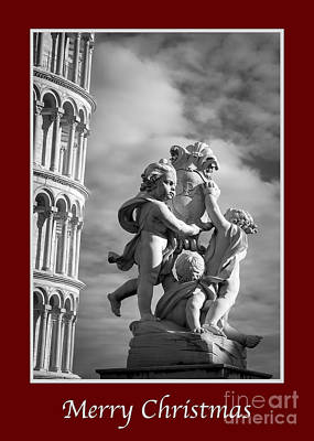 Photograph - Merry Christmas With Fountain Of Angels by Prints of Italy