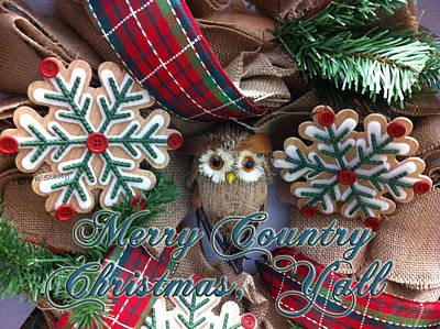 Photograph - Merry Country Christmas Y'all by Robyn Stacey