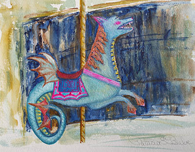 Painting - Merry Go Dragon by Patricia Beebe