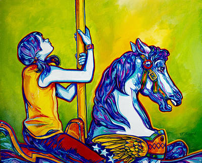 Merry-go-round Original by Derrick Higgins