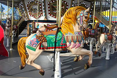 Photograph - Merry Go Round Horse by Denise Mazzocco