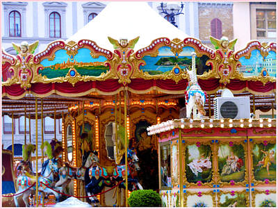 Merry Go Round Art Print by Mindy Newman