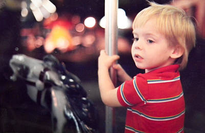Photograph - Merry Go Round Rider by Christy Usilton