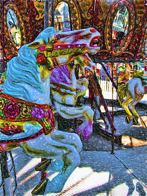 Digital Art - Merry Go Round by Terry Cork