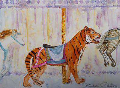 Painting - Merry Go Tiger by Patricia Beebe