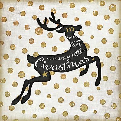 Reindeer Painting - Merry Little Deer by Jennifer Pugh