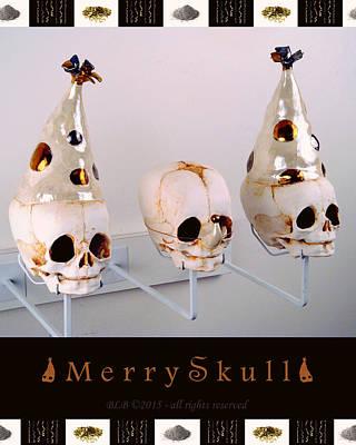 Merry Skulls Art Print