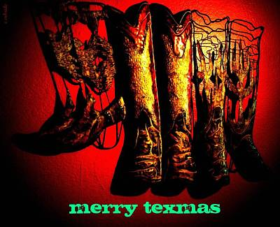 Merry Texmas Art Print by Chris Berry