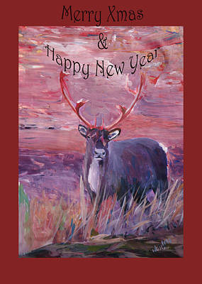 Merry Xmas And Happy New Year Art Print