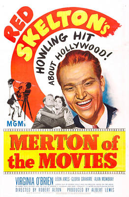 Red Skelton Photograph - Merton Of The Movies, Us Poster, Red by Everett