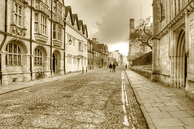 Photograph - Merton Street Oxford by Chris Day