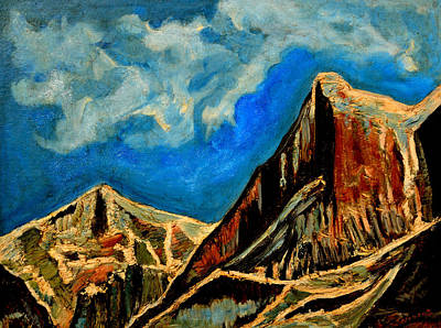Painting - Meru Hill by Anand Swaroop Manchiraju
