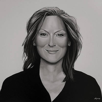 Meryl Streep Art Print by Paul Meijering