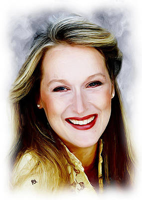 Blockbuster Painting - Meryl Streep by Paul Quarry