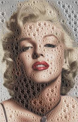 Digital Art - Marilyn Diamonds by Samuel Majcen