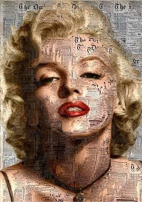 Marilyn - Newspaper Art Print