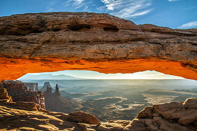 Photograph - Mesa Arch Canyonlands Utah Sunrise by Pierre Leclerc Photography