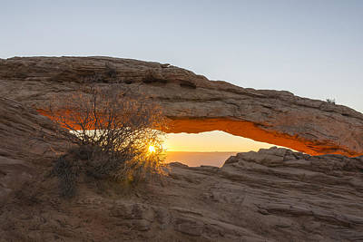 Photograph - Mesa Arch Sunrise 3 - Canyonlands National Park - Moab Utah by Brian Harig