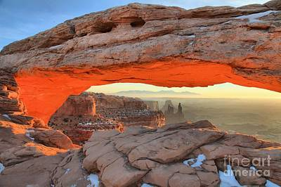 Photograph - Mesa Arch Towers by Adam Jewell