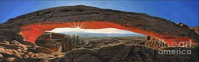 Canyon Painting - Mesa Arch Utah by Richard Harpum