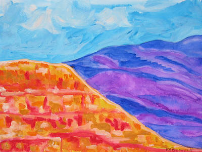 Painting - Mesa Meets Mountain by Kerry Bennett