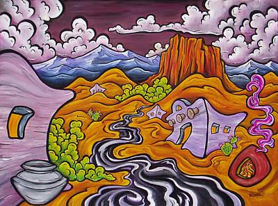 Grande Painting - Mesa by Robb Rael