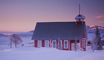 Little Red School House Photograph - Mesa School House by Bridget Calip