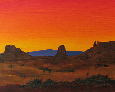 Painting - Mesa Sunset by Carl Bandy