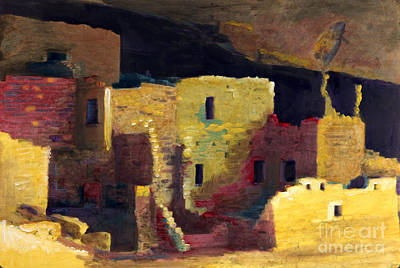 Painting - Mesa Verde Cliff Palace by Cindy McIntyre