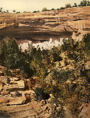 Mesa Verde Photograph - Mesa Verde Cliff Palace by Underwood Archives