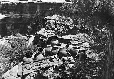 Water Jars Photograph - Mesa Verde Explorations by Underwood Archives