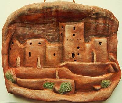 Archaelogy Relief - Mesa Verde Memories by Lucy Deane