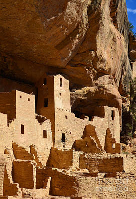 Mesa Verde Photograph - Mesa Verde National Park Cliff Palace Pueblo Anasazi Ruins Vertical by Shawn O'Brien