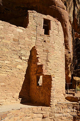 Mesa Verde Photograph - Mesa Verde National Park Cliff Palace Pueblo Windows Anasazi Ruins Vertical by Shawn O'Brien