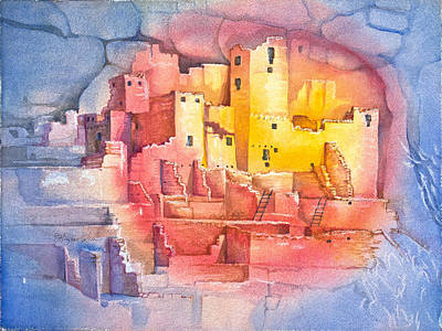 Archeology Painting - Mesa Verde by Patricia Allingham Carlson