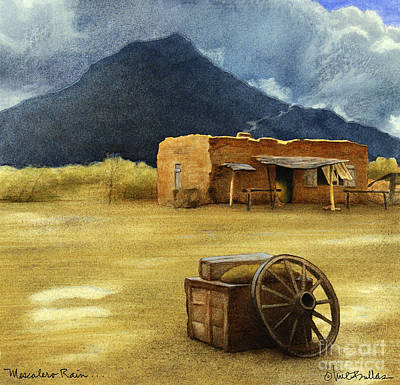 Tucson Painting - Mescalero Rain... by Will Bullas