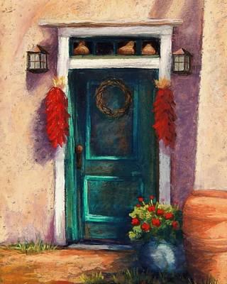 Mesilla Door Art Print by Candy Mayer