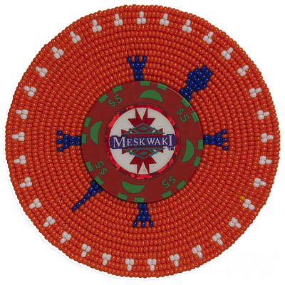 Meskwaki Orange Art Print