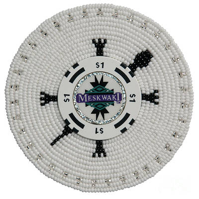 Beadwork Mixed Media - Meskwaki White by Douglas K Limon