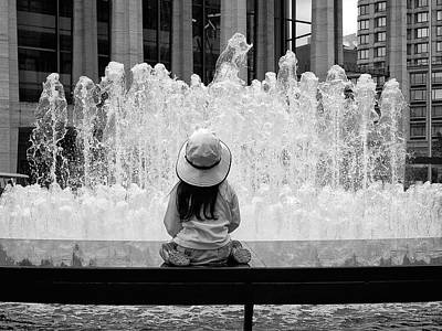 Photograph - Mesmerized By A Fountain by Cornelis Verwaal