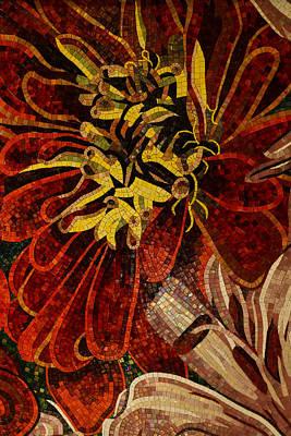 Mesmerizing Sparkling Vivacious Ceramic Tile Mosaic Print by Georgia Mizuleva