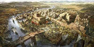 Mesopotamia Art Print by Jeff Brown