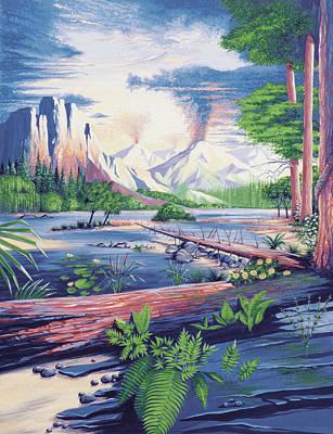 Mesozoic Landscape Art Print