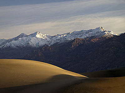 Art Print featuring the photograph Mesquite Dunes And Grapevine Range by Joe Schofield
