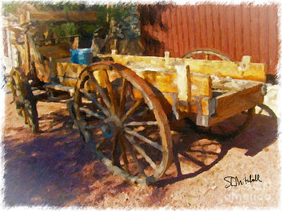 Painting - Mesquite Wagon by Stephen Mitchell