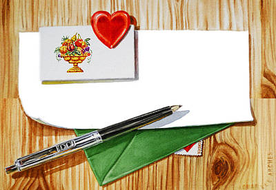 Envelopes Painting - Message From The Heart by Irina Sztukowski