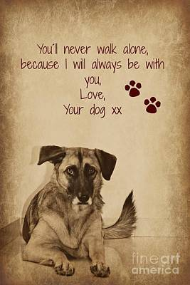 Message From Your Dog Art Print by Clare Bevan