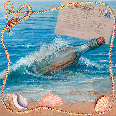 Painting - Message In A Bottle by Sher Sester