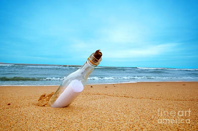 Emotion Photograph - Message In The Bottle by Michal Bednarek